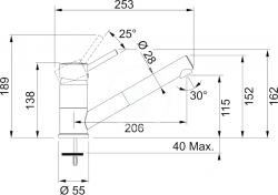 FRANKE - Sety Kuchyňský set G78, granitový dřez MRG 611-78 BB, šedý kámen + baterie FG 7486, šedý kámen (114.0365.713), fotografie 2/2
