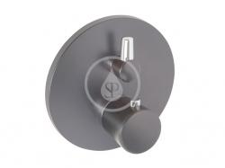 KLUDI - Balance Termostatická baterie pod omítku pro 2 spotřebiče, černá mat/chrom (528308775)