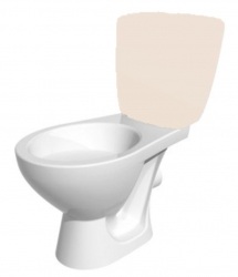 ND - KASKADA náhradní WC mísa bez montážní sady (K100-206-01X) - CERSANIT