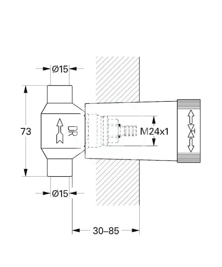 GROHE - Příslušenství Spodní díl podomítkového ventilu (29801000)