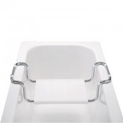 MEREO - Sedátko vanové, stavitelné, nosnost 90 kg, chrom/polypropylen (VA365)
