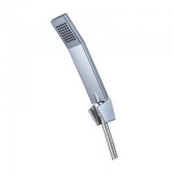 MEREO - Sprchová souprava, jednopolohová sprcha hranatá 4 x 7 cm, dvouzámková nerez hadice (CB465V)