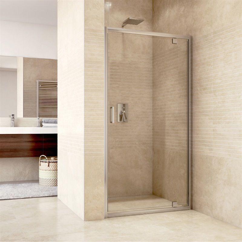 MEREO Sprchové dveře pivotové, Mistica, 80 cm, chrom ALU, sklo Čiré CK80913H