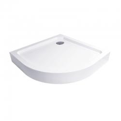Čtvrtkruhová sprchová vanička R550, 90x90x14 cm, SMC, bílá, včetně nožiček a sifonu (CV01H) - MEREO