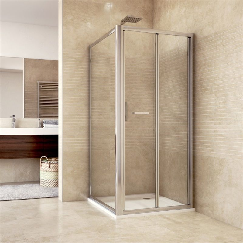 MEREO Sprchový kout, Mistica, čtverec, 100 cm, chrom ALU, sklo Chinchilla CK86134H