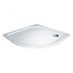 MEREO - Čtvrtkruhová sprchová vanička, 100x100x3 cm, R550, bez nožiček, litý mramor (CV75M)