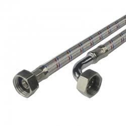 "MEREO - Hadice připojovací nerez 8x12, FxF, 1/2""x1/2"" s kolínkem, 20 cm (CR391C)"
