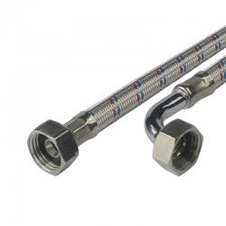 "MEREO - Hadice připojovací nerez 10x14, FxF, 1/2""x1/2"" s kolínkem, 100 cm (CR397E)"