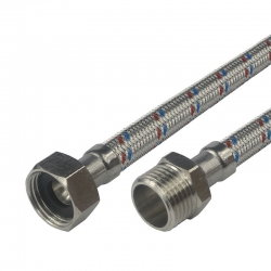 "MEREO - Hadice připojovací nerez 10x14, MxF, 3/4""x3/4"", 30 cm (CR492E)"