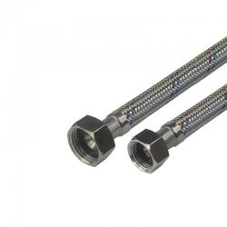 "MEREO - Hadice připojovací nerez 13x18, FxF, 3/4""x3/4"", 10 cm (CR480F)"