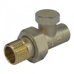 """MEREO - Šroubení radiátorové uzavíratelné, přímé, pájecí, 1/2""""x15 mm (PR8090)"""