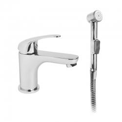 MEREO - Umyvadlová stojánková baterie Lila s bidetovou sprchou (CBEE10105)
