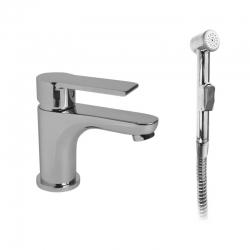 MEREO - Umyvadlová stojánková baterie Dita s bidetovou sprchou (CBE10105D)