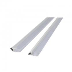 MEREO - Magnetická lišta bílá, 45°, výška 2 m,    pro skla serie Novea - tl. 6 mm, 1 ks (CKND12ZM)