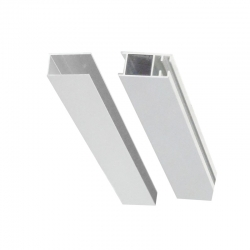 MEREO - Lišta fixační a vymezovací pro sprochové kouty a dveře, chrom ALU, výška 2000 mm (CKND250Z2)
