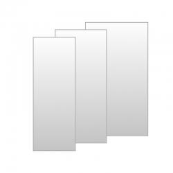 MEREO - Mistica pevný díl skleněný, 100x190 cm, sklo Chinchilla 6 mm, rámový - chrom ALU (CK10304H)