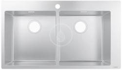 Dřezy Vestavný dřez S711-F765, nerezová ocel (43303800) - HANSGROHE