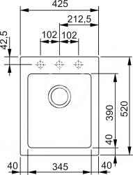 FRANKE - Sety Kuchyňský set G33, granitový dřez KSG 218, sahara + baterie Samoa, chrom + dávkovač FD 300 (114.0283.307), fotografie 2/2
