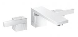 AXOR - Edge Umyvadlová baterie s výpustí, 3-otvorová instalace, chrom/diamantový brus (46061000)