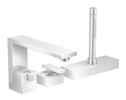 AXOR - Edge Baterie na okraj vany, 3-otvorová instalace, chrom/diamantový brus (46431000)