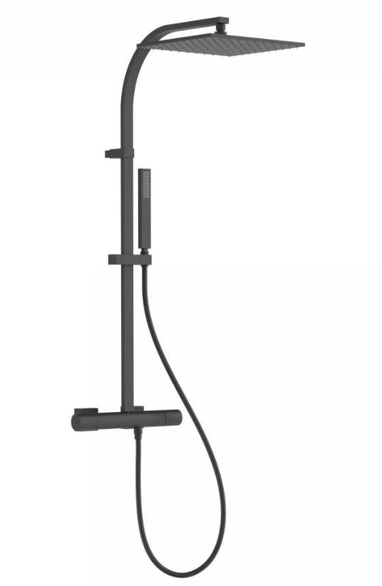 TRES Souprava termostatické sprchové baterie, pevná sprcha 300x300 mm, s kloubem 21139501NM