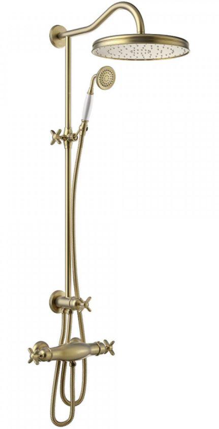 TRES Souprava termostatické sprchové baterie, pevná sprcha průměr 310 mm, s kloubem 24219501LM