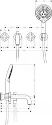 AXOR - Citterio Tříotvorová vanová baterie pod omítku, chrom (39447000), fotografie 4/3