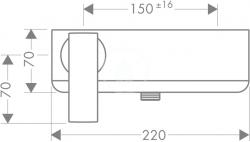 AXOR - Citterio Páková sprchová baterie, chrom (39600000), fotografie 4/2