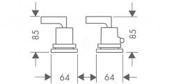 AXOR - Citterio Termostatická 2-otvorová baterie, chrom (39482000), fotografie 2/1