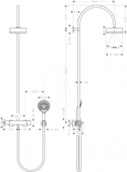 AXOR - Citterio Sprchová souprava Showerpipe s termostatem, chrom (39670000), fotografie 2/1