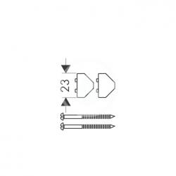 AXOR - Příslušenství Sada pro rohovou montáž, chrom (28693000), fotografie 2/1