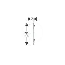 AXOR - Příslušenství Podložka pro vyrovnání obkladů, světle šedá (96397000), fotografie 2/1