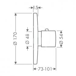 AXOR - Uno Highflow termostatická baterie pod omítku, chrom (38715000), fotografie 2/2