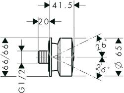 AXOR - Sprchový program Boční sprcha, chrom (28469000), fotografie 2/2