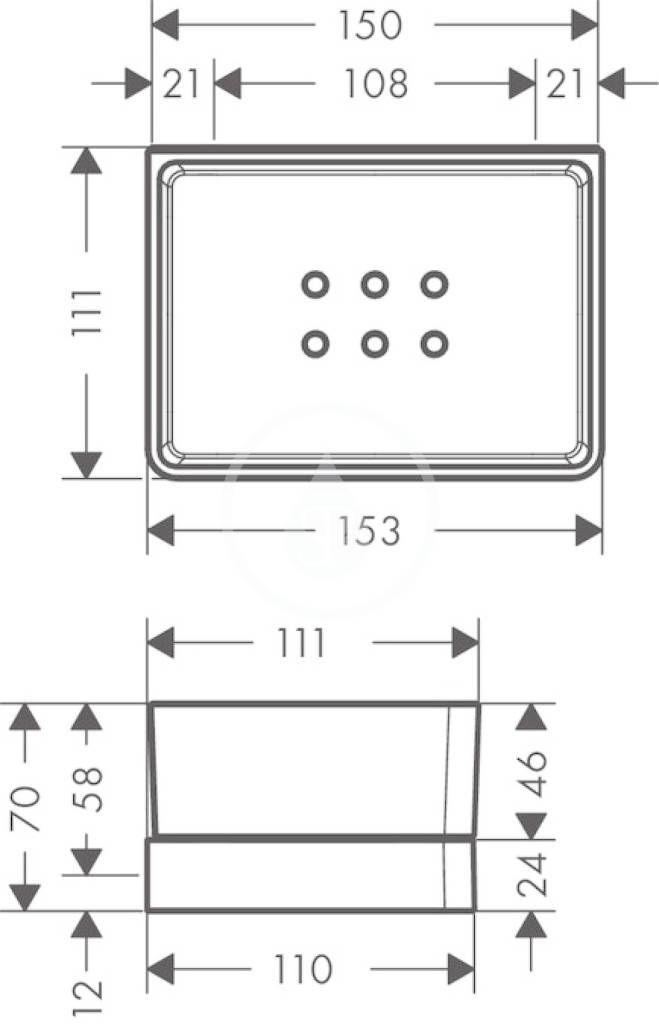 AXOR - Universal Polička na ručník, chrom (42802000)