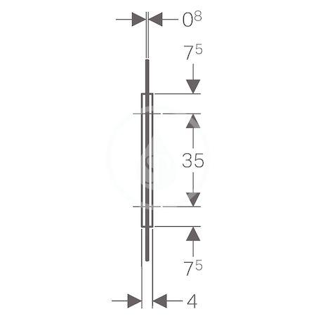 GEBERIT - Příslušenství Pisoárová dělící stěna, sklo hnědé (115.211.TF.1)