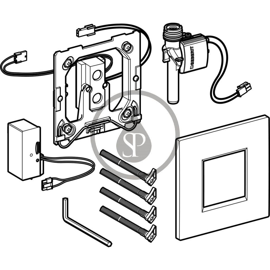 GEBERIT - Splachovací systémy Elektronické ovládání splachování pisoárů Typ 30, síťové napájení, lesklý chrom (116.027.KH.1)