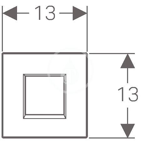 GEBERIT - Splachovací systémy Elektronické ovládání splachování pisoárů Typ 30, síťové napájení, alpská bílá (116.027.KJ.1)