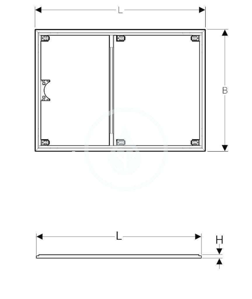 GEBERIT - Setaplano Instalační rám pro sprchové vaničky, 900x1400 mm, pro 6 nohou (154.475.00.1)