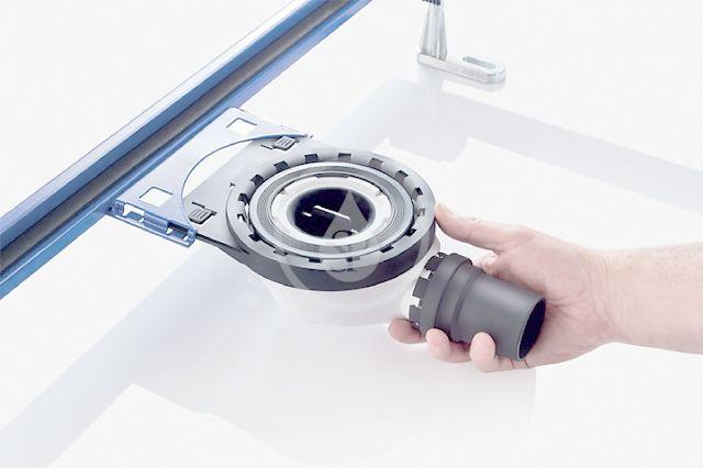 GEBERIT - Setaplano sprchová odpadní souprava pro sprchovou vaničku Setaplano, výška vodního uzávěru 30 mm (154.022.00.1)