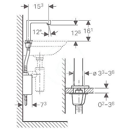 GEBERIT - Brenta Elektronická umyvadlová baterie, se směšovačem, síťové napájení, chrom (116.172.21.1)