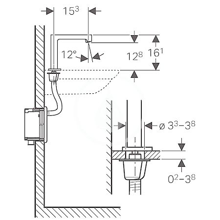 GEBERIT - Brenta Elektronická umyvadlová baterie, se směšovačem, síťové napájení, chrom (116.192.21.1)