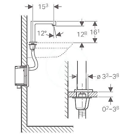 GEBERIT - Brenta Elektronická umyvadlová baterie, bez směšovače, napájení z generátoru, chrom (116.195.21.1)