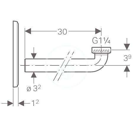 GEBERIT - Příslušenství Krycí deska pro umyvadlové baterie s funkčním boxem a zápachovou uzávěrkou pod omítku (116.426.11.1)