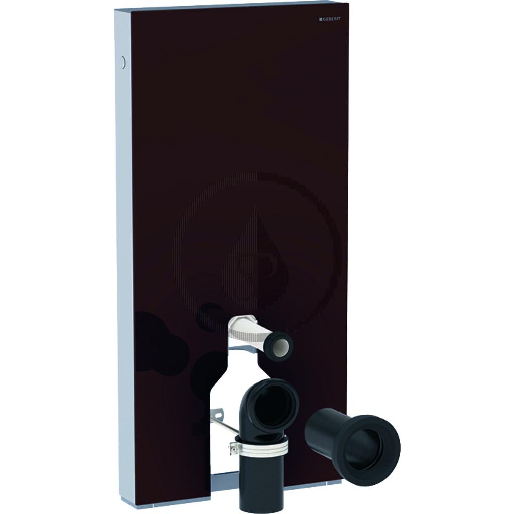 GEBERIT Monolith Plus Sanitární modul pro stojící WC, 101 cm, spodní přívod vody, hnědá 131.201.SQ.5