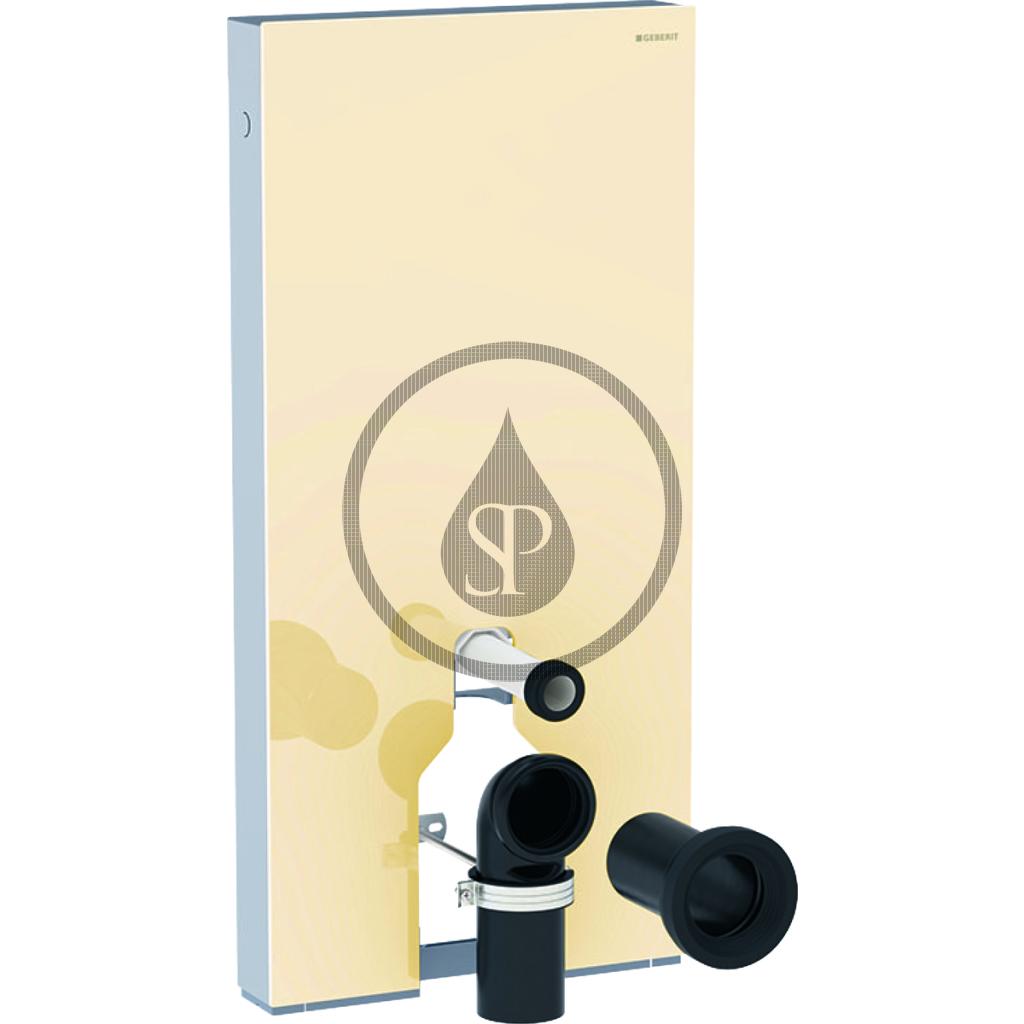 GEBERIT Monolith Plus Sanitární modul pro stojící WC, 101 cm, spodní přívod vody, písková 131.201.TG