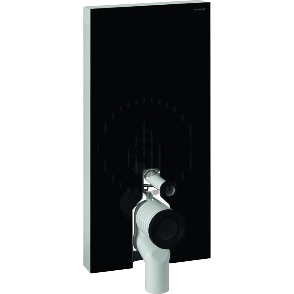 GEBERIT Monolith Plus Sanitární modul pro stojící WC, 101 cm, spodní přívod vody, černá 131.202.SJ.5