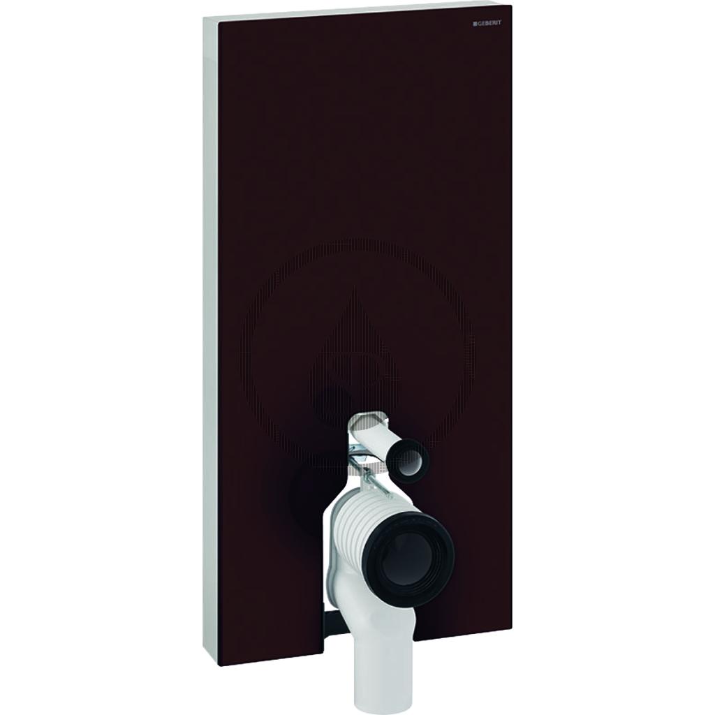 GEBERIT Monolith Plus Sanitární modul pro stojící WC, 101 cm, spodní přívod vody, hnědá 131.202.SQ.5