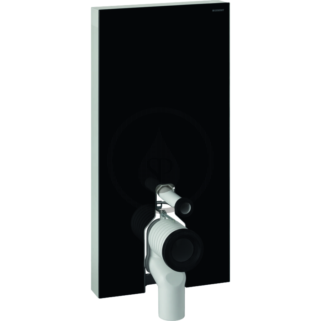 GEBERIT Monolith Plus Sanitární modul pro stojící WC, 101 cm, boční přívod vody, černá 131.203.SJ.5