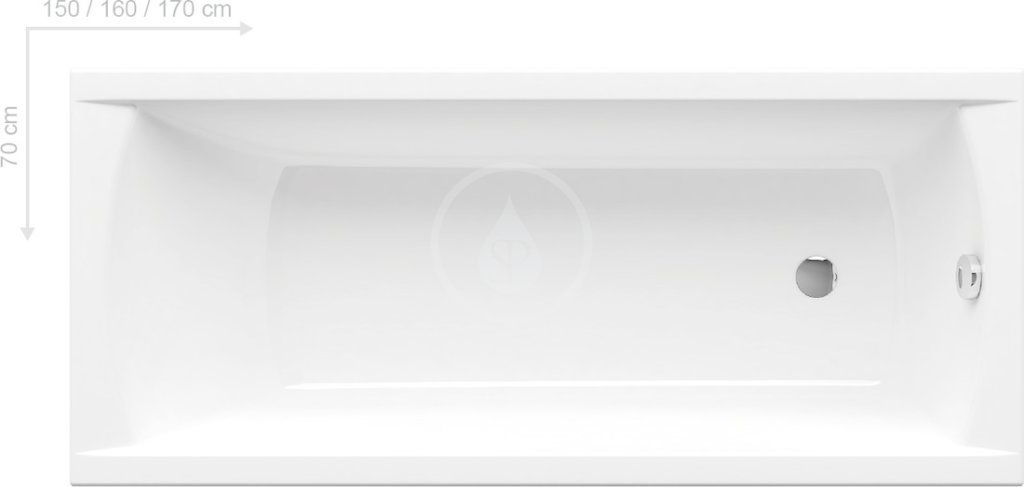 RAVAK Classic Obdélníková vana 1500x700 mm, bílá C521000000